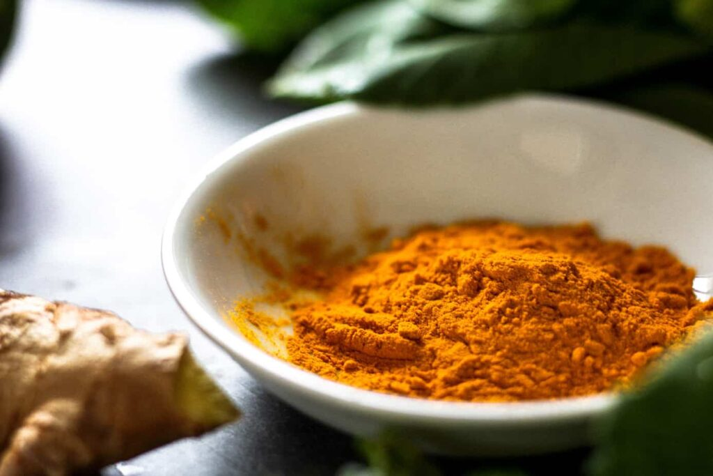 turmeric in dish for thai red curry recipe