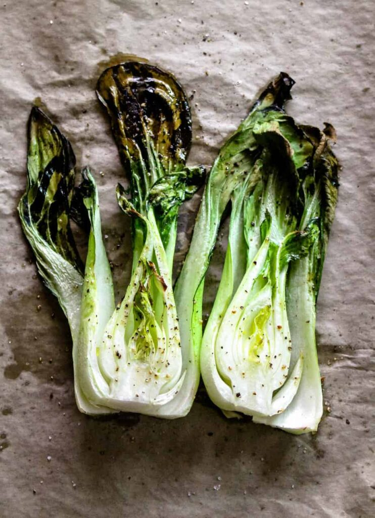 roasted bok choy for thai red curry