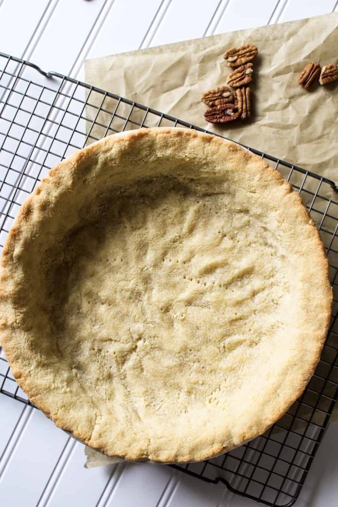 keto pecan pie baked crust