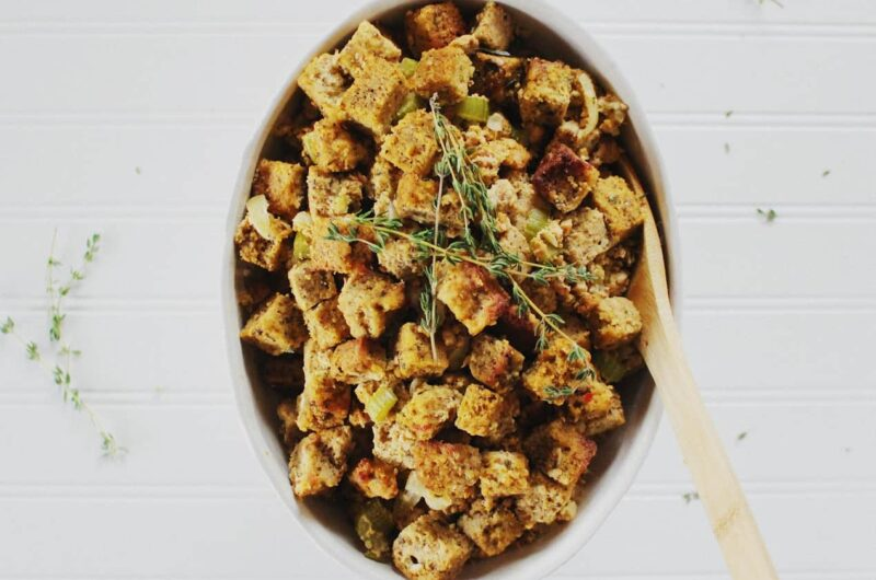 keto stuffing with almond meal bread
