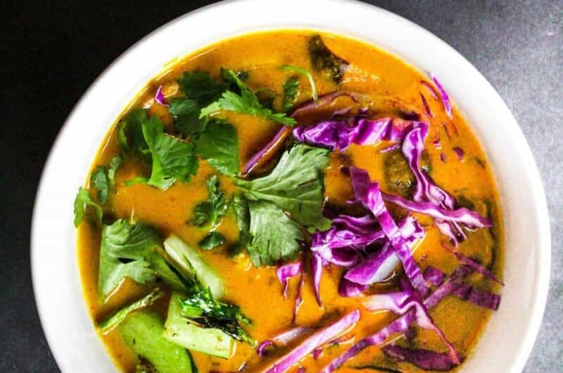 thai red curry soup (surprise! a leftover turkey recipe)