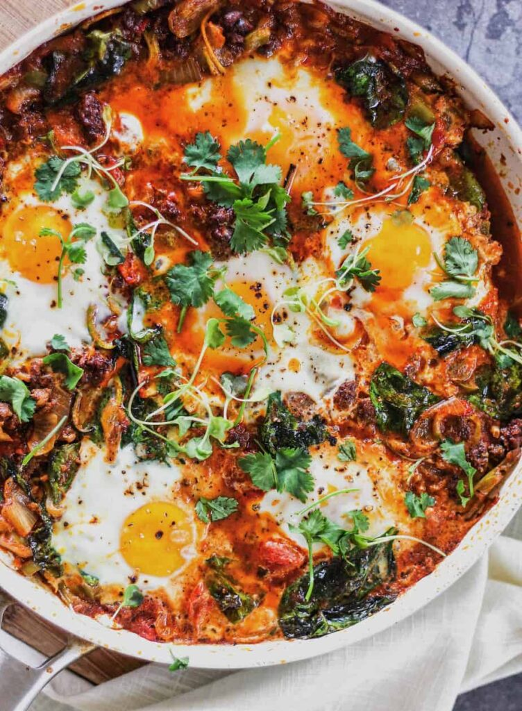 low-carb shakshuka baked