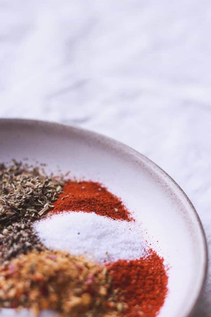 spices for Tuscan-style beef and vegetable soup