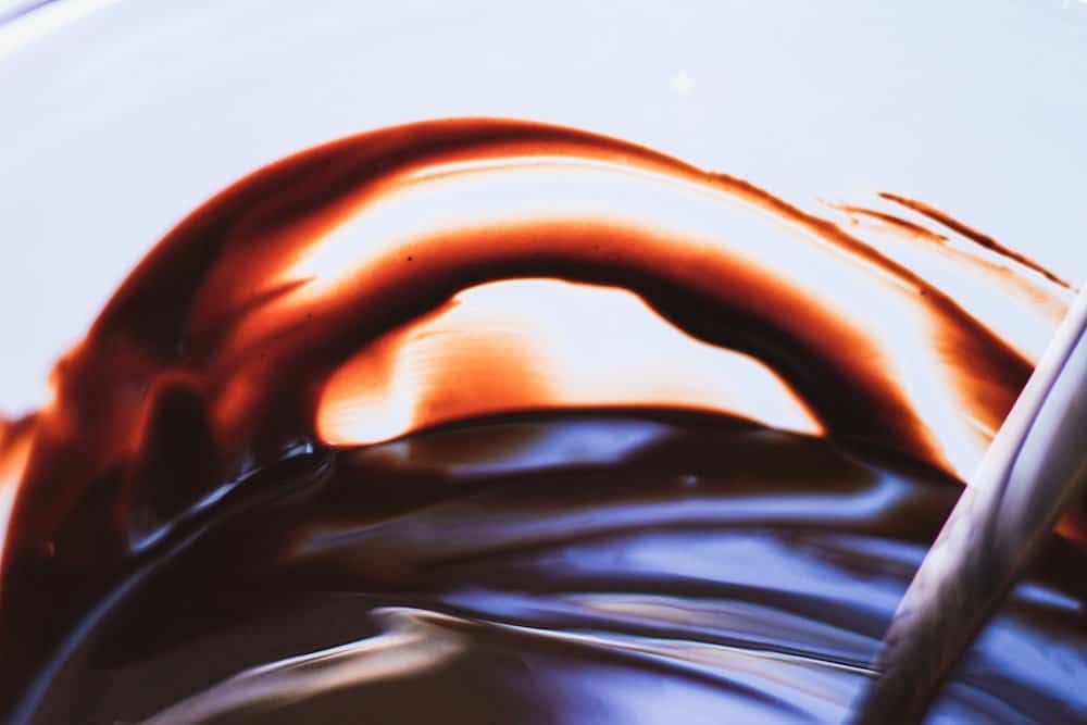 closeup of chocolate on the bowl