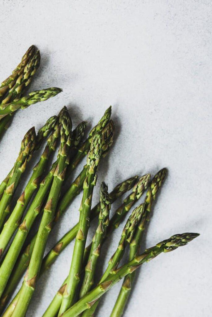 closeup of asparagus