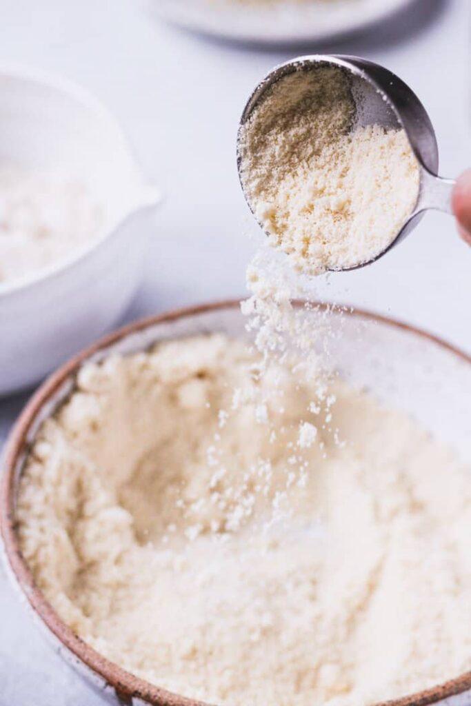 almond flour poured into a bowl