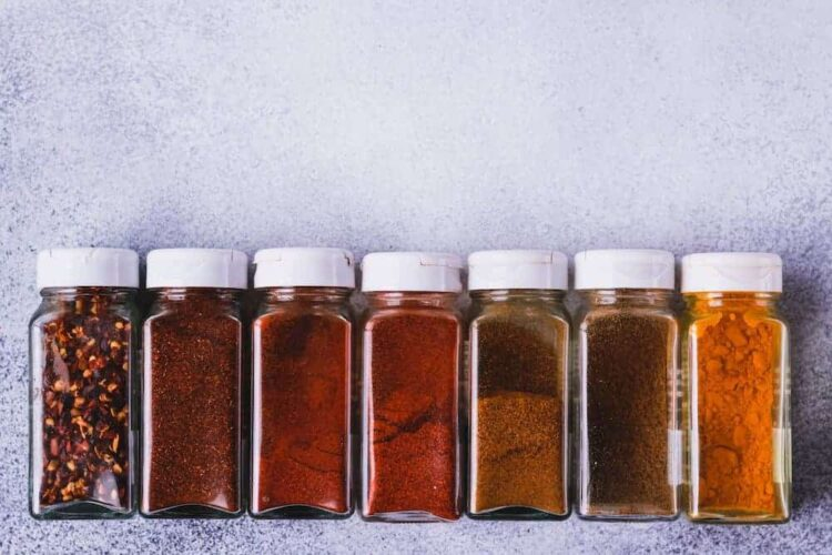spices in a row
