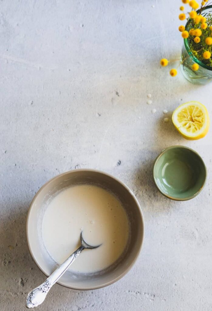 glaze in a bowl