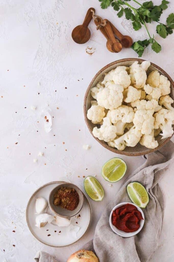 ingredients for spanish cauliflower rice