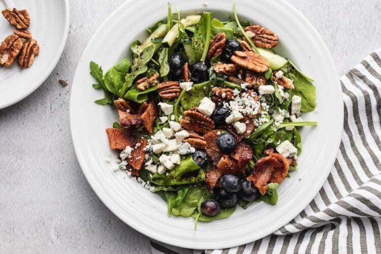 blueberry and bacon salad from low-carb diet meal plan
