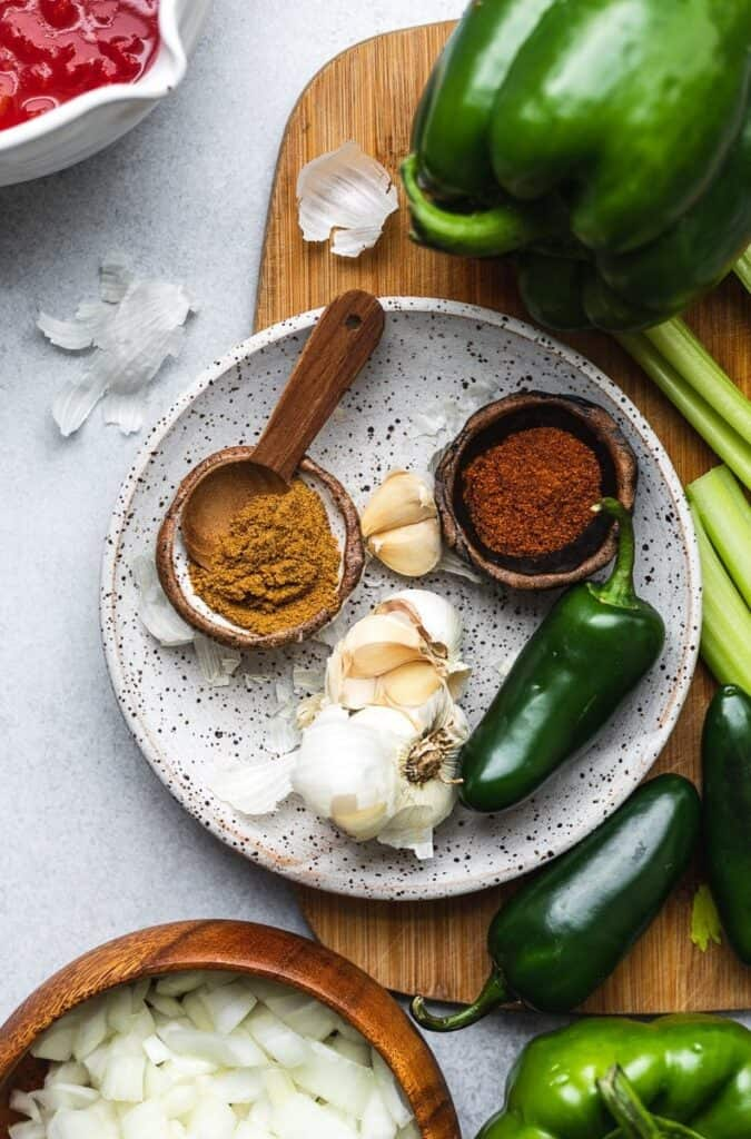 ingredients for keto chili