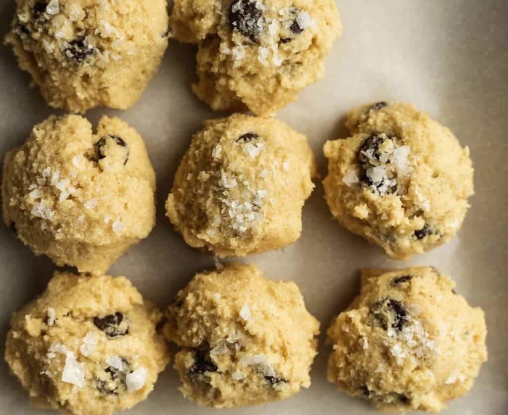 keto chocolate chip cookie dough balls