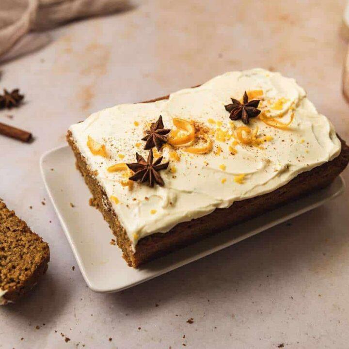 keto gingerbread loaf {gluten-free, dairy optional}