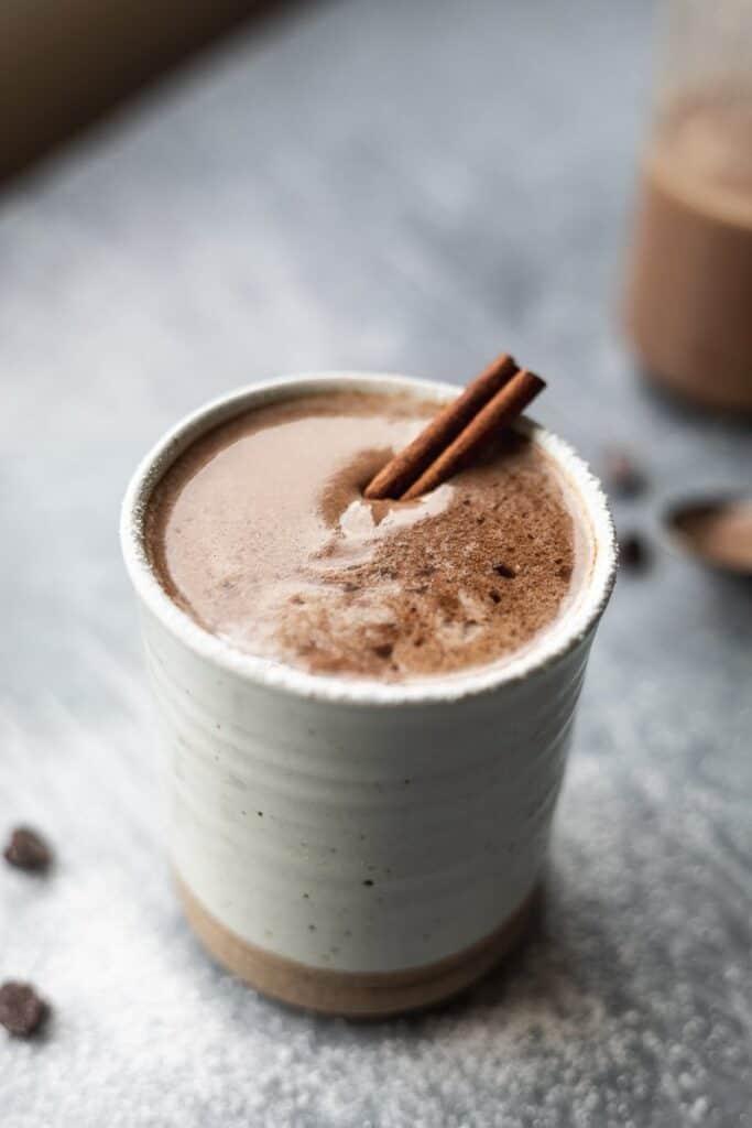mug of keto hot cocoa