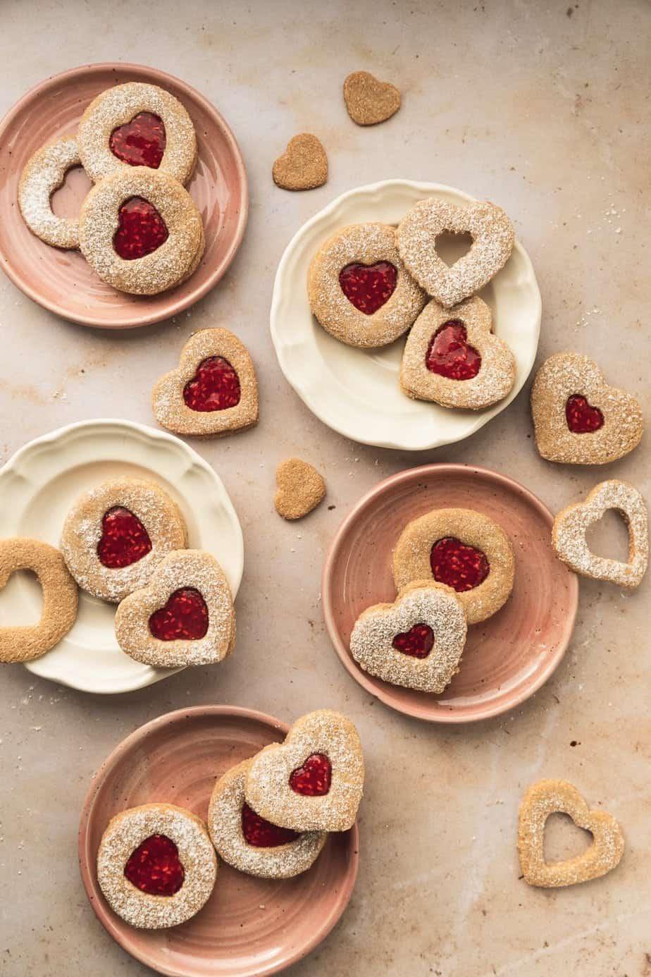 raspberry almond Linzer cookies {keto + gluten-free}