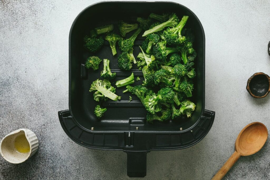 broccoli florets in the air fryer