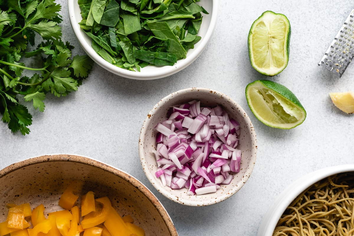 ingredients for the cold noodle salad recipe